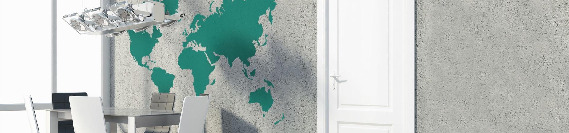 wereldkaart-interieurstickers almere