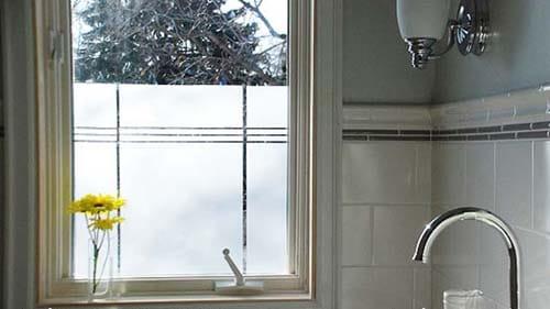 glassticker voordeur mat