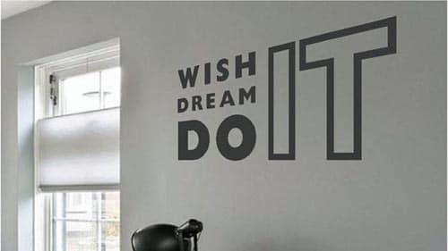 mooi op de muur binnenbelettering