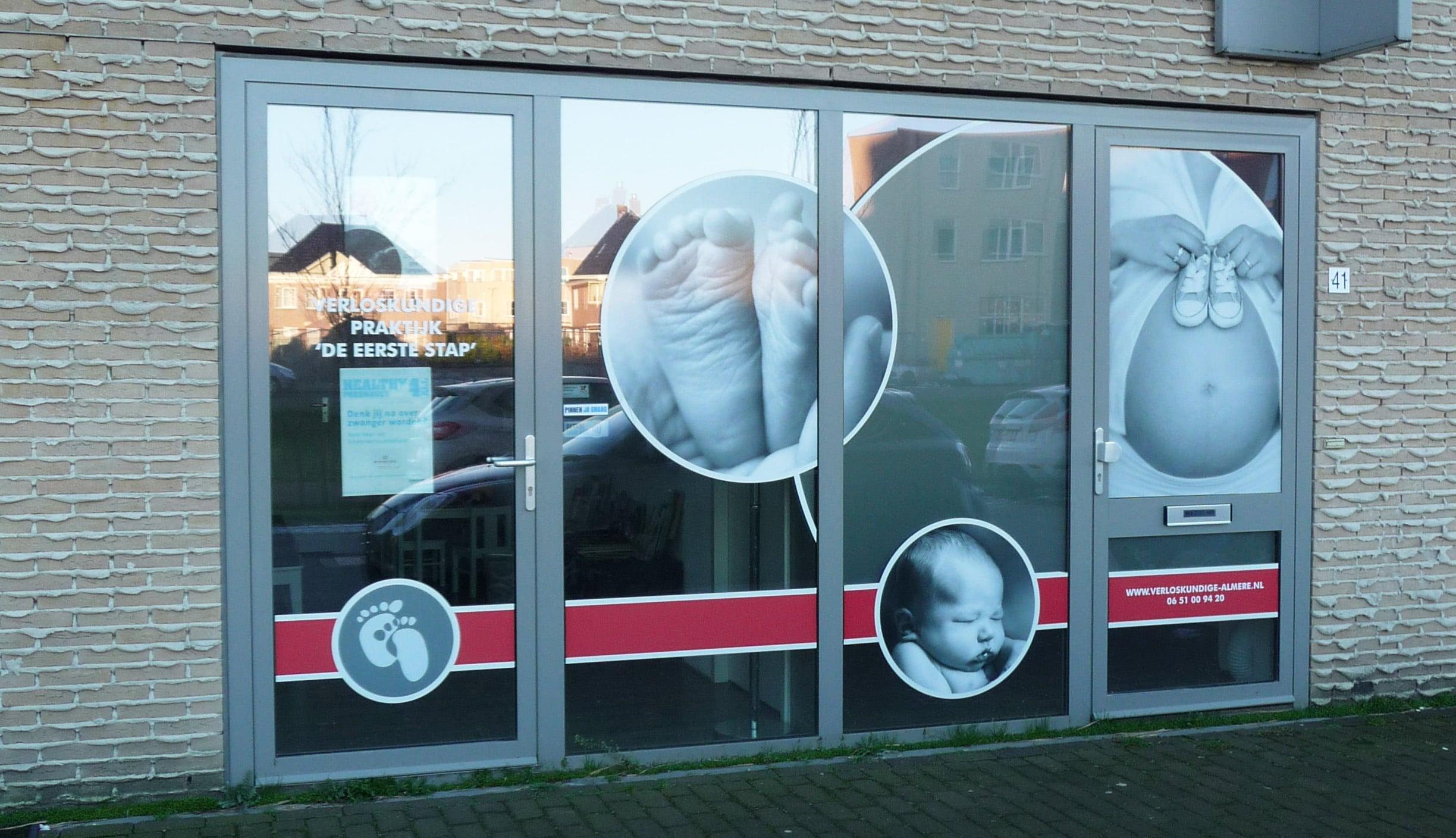raambelettering full colour stickers almere