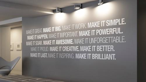 kantoor quotes letters op muur almere
