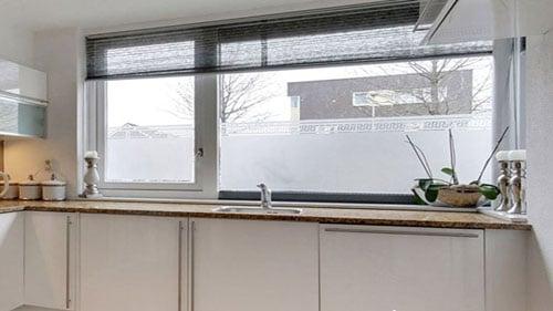 keukenraam matte folie almere